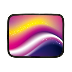 Rainbow Space Red Pink Purple Blue Yellow White Star Netbook Case (Small)