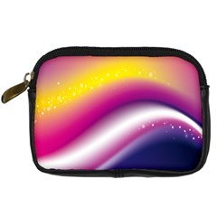 Rainbow Space Red Pink Purple Blue Yellow White Star Digital Camera Cases