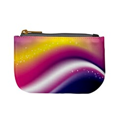 Rainbow Space Red Pink Purple Blue Yellow White Star Mini Coin Purses