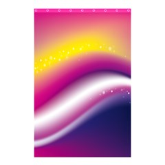 Rainbow Space Red Pink Purple Blue Yellow White Star Shower Curtain 48  x 72  (Small)