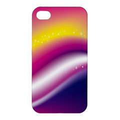 Rainbow Space Red Pink Purple Blue Yellow White Star Apple iPhone 4/4S Hardshell Case