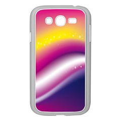 Rainbow Space Red Pink Purple Blue Yellow White Star Samsung Galaxy Grand DUOS I9082 Case (White)