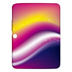 Rainbow Space Red Pink Purple Blue Yellow White Star Samsung Galaxy Tab 3 (10.1 ) P5200 Hardshell Case