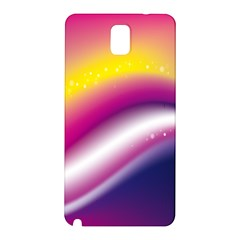 Rainbow Space Red Pink Purple Blue Yellow White Star Samsung Galaxy Note 3 N9005 Hardshell Back Case