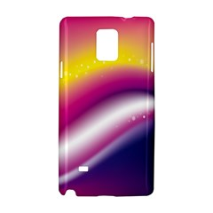 Rainbow Space Red Pink Purple Blue Yellow White Star Samsung Galaxy Note 4 Hardshell Case