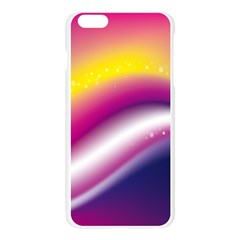 Rainbow Space Red Pink Purple Blue Yellow White Star Apple Seamless iPhone 6 Plus/6S Plus Case (Transparent)