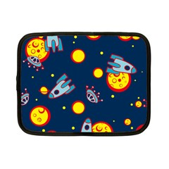 Rocket Ufo Moon Star Space Planet Blue Circle Netbook Case (Small)