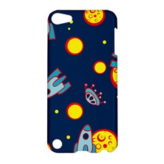 Rocket Ufo Moon Star Space Planet Blue Circle Apple iPod Touch 5 Hardshell Case