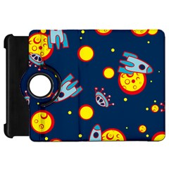 Rocket Ufo Moon Star Space Planet Blue Circle Kindle Fire HD 7