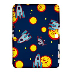 Rocket Ufo Moon Star Space Planet Blue Circle Samsung Galaxy Tab 4 (10.1 ) Hardshell Case