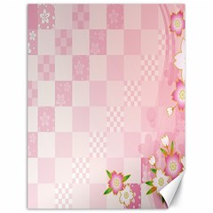 Sakura Flower Floral Pink Star Plaid Wave Chevron Canvas 18  x 24