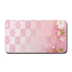 Sakura Flower Floral Pink Star Plaid Wave Chevron Medium Bar Mats