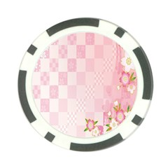 Sakura Flower Floral Pink Star Plaid Wave Chevron Poker Chip Card Guard (10 pack)