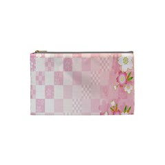 Sakura Flower Floral Pink Star Plaid Wave Chevron Cosmetic Bag (Small)