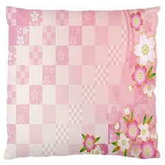 Sakura Flower Floral Pink Star Plaid Wave Chevron Standard Flano Cushion Case (Two Sides)