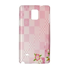 Sakura Flower Floral Pink Star Plaid Wave Chevron Samsung Galaxy Note 4 Hardshell Case