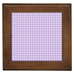 Plaid Purple White Line Framed Tiles