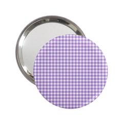 Plaid Purple White Line 2.25  Handbag Mirrors