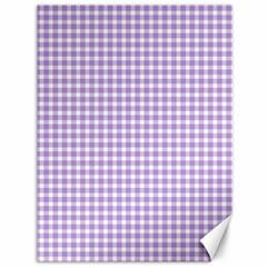Plaid Purple White Line Canvas 36  x 48