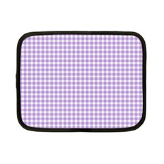 Plaid Purple White Line Netbook Case (Small)