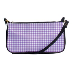 Plaid Purple White Line Shoulder Clutch Bags