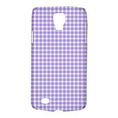 Plaid Purple White Line Galaxy S4 Active