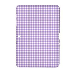 Plaid Purple White Line Samsung Galaxy Tab 2 (10.1 ) P5100 Hardshell Case
