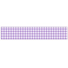 Plaid Purple White Line Flano Scarf (Large)