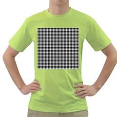 Plaid Black White Line Green T-Shirt