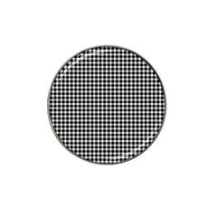 Plaid Black White Line Hat Clip Ball Marker (10 pack)