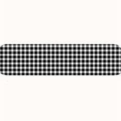 Plaid Black White Line Large Bar Mats