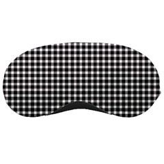 Plaid Black White Line Sleeping Masks