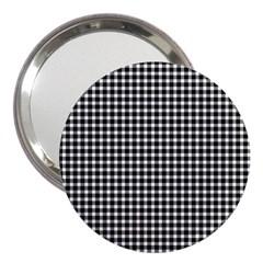 Plaid Black White Line 3  Handbag Mirrors
