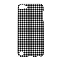 Plaid Black White Line Apple iPod Touch 5 Hardshell Case