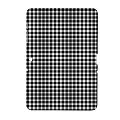 Plaid Black White Line Samsung Galaxy Tab 2 (10 1 ) P5100 Hardshell Case