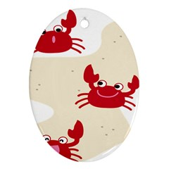 Sand Animals Red Crab Ornament (Oval)