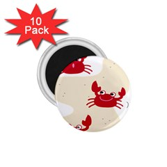 Sand Animals Red Crab 1.75  Magnets (10 pack)