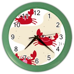 Sand Animals Red Crab Color Wall Clocks