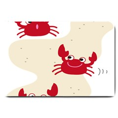 Sand Animals Red Crab Large Doormat