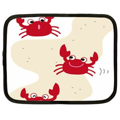 Sand Animals Red Crab Netbook Case (Large)