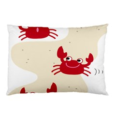 Sand Animals Red Crab Pillow Case