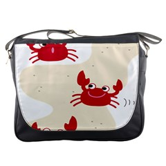 Sand Animals Red Crab Messenger Bags