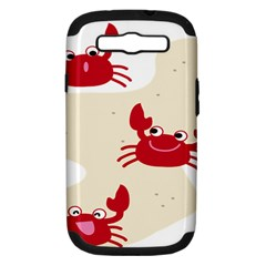 Sand Animals Red Crab Samsung Galaxy S III Hardshell Case (PC+Silicone)