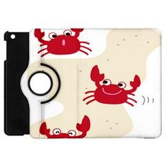 Sand Animals Red Crab Apple iPad Mini Flip 360 Case