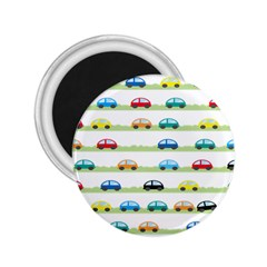Small Car Red Yellow Blue Orange Black Kids 2.25  Magnets
