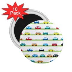 Small Car Red Yellow Blue Orange Black Kids 2.25  Magnets (10 pack)