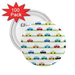 Small Car Red Yellow Blue Orange Black Kids 2.25  Buttons (100 pack)
