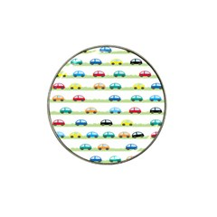 Small Car Red Yellow Blue Orange Black Kids Hat Clip Ball Marker (10 pack)