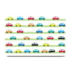 Small Car Red Yellow Blue Orange Black Kids Plate Mats