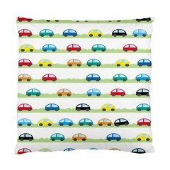 Small Car Red Yellow Blue Orange Black Kids Standard Cushion Case (One Side)